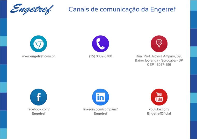 Canais de comunicação da Engetref