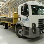 Um dos caminhões da Engetref