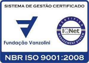 Logotipo ISO 9001 da Fundação Vanzolini