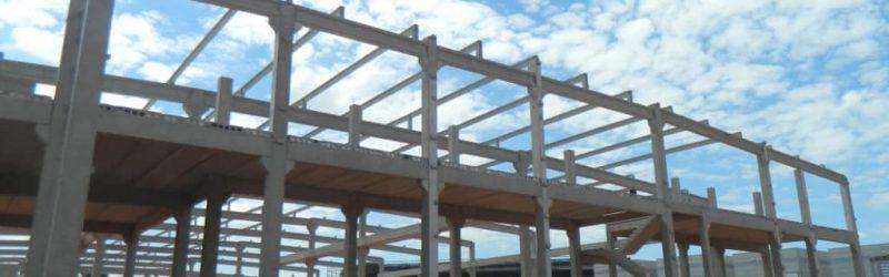 Estrutura da fachada praticamente pronta