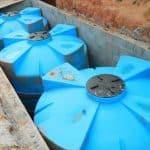 Caixas d'água instaladas