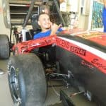 Foto de um colaborador da Engetref no carro da V8 Racing - 5