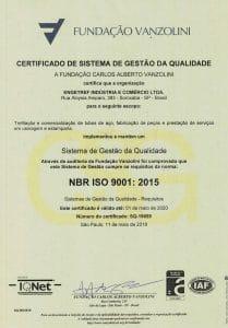 Certificado ISO 9001:2015 Vanzolini da Engetref (português) (2018)