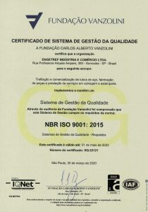 Certificado ISO 9001:2015 Vanzolini da Engetref (português) (2020)